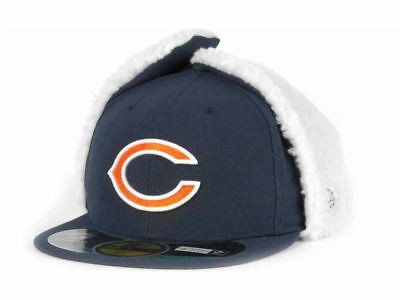 85ad212fe8c6ec Chicago Bears Navy Blue New Era NFL Dog Ear 59FIFTY Fitted Winter Hat Cap •  23.98
