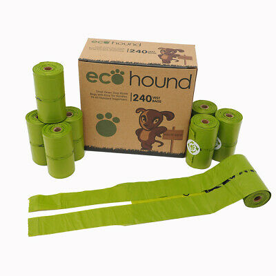 £9.95 • Buy Ecohound SMALL Dog Poo Bags With Handles Oxo-Biodegradable Dog Waste Bag Rolls
