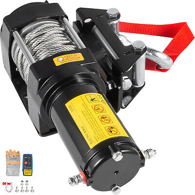 AU96.90 • Buy New 12V Wireless 4000LBS/1815KGS Electric Rope Winch ATV 4WD 4x4 Boat Truck Car