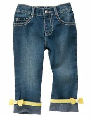 $19.99 • Buy Nwt Gymboree Bee Chic Yellow Bow   Jeans  Pants Size 2t Elastic  Waist