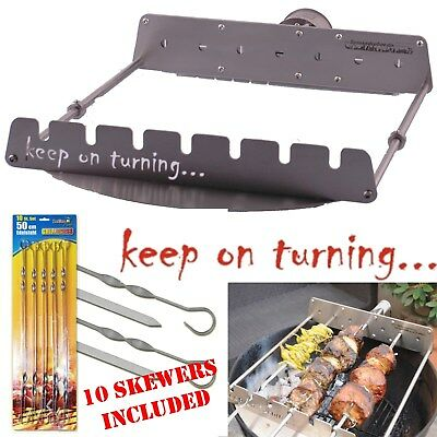 $ CDN286.98 • Buy Rotisserie Add On Kit For Weber 18  Kettle BBQ Grill Automatic Rotating Skewers