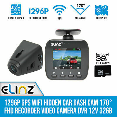 AU125 • Buy 1296P Hidden Car Dash Cam WiFi GPS 170° FHD Recorder Video Camera DVR 1080P 32GB
