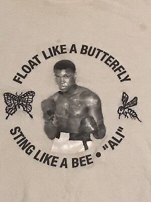 "$74.99 • Buy VINTAGE RARE Adidas Muhammad Ali ""Float Like A Butterfly"" T-Shirt Size Men's XXL"