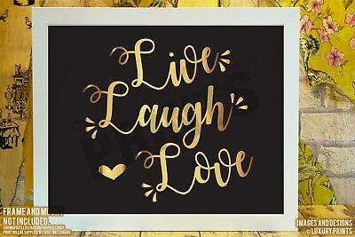 £4.99 • Buy Live Laugh Love Quote Picture Print Wall Words Canvas Gift Wedding Valentine