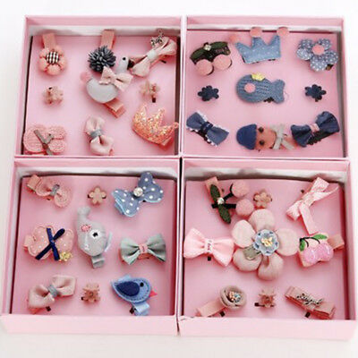 $ CDN16.97 • Buy 9Pcs/Set Baby Girls Boutique Head Clips Hair Accessories Gift