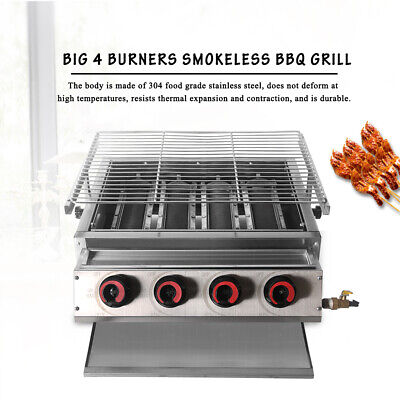 $ CDN501.83 • Buy LPG BBQ Barbecue Grill Tabletop Stainless Steel Grill Outdoor Camping 4 Burner