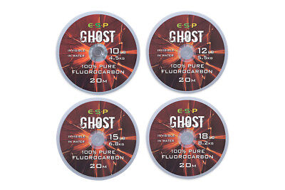ESP Carp Fishing Ghost Fluorocarbon - All Sizes • 8.95£