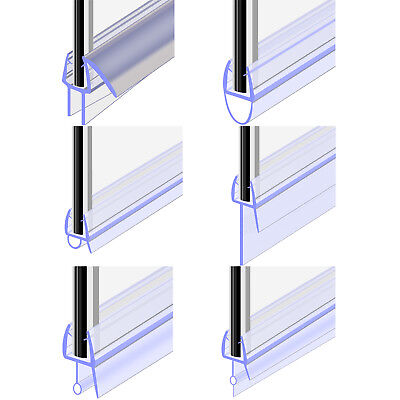Bath Shower Screen Door Seal Strip For Glass Thickness 4 - 6mm Seal Gap 4 - 30mm • 5.29£