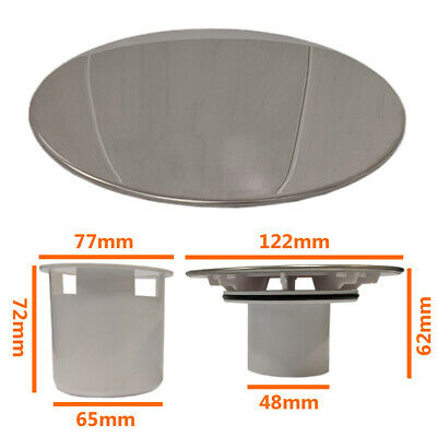 £8.40 • Buy 120mm Shower Drain Waste Replacement Chrome Cap Tube Sediment Cup 90mm Tray Hole