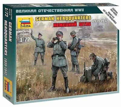 Zvezda 1/72 Scale WW2 GERMAN HQ WWII STAFF • 5.99£