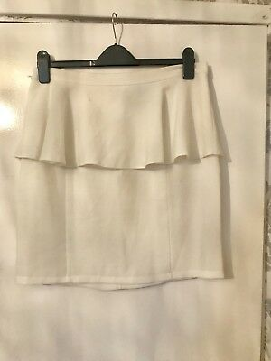 White Peplum Skirt From Topshop Size 14  • 10£