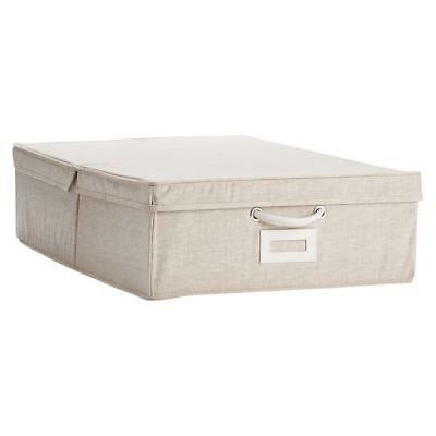 $22.72 • Buy NWT Pottery Barn PB Teen Solid Canvas Under-Bed Storage Bin, Linen Natural
