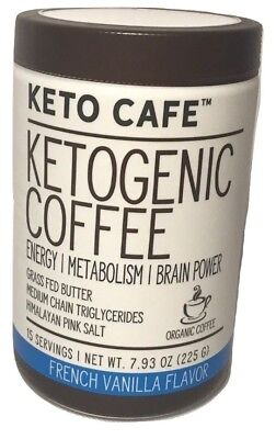 $19.99 • Buy Keto Cafe KETOGENIC Coffee ENERGY| METABOLISM| BRAIN POWER MCT FRENCH VANILLA