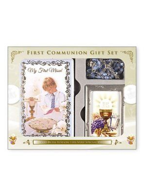 Boys First Holy Communion Gift Set, With Missal, Rosary & Photo Frame • 14.95£