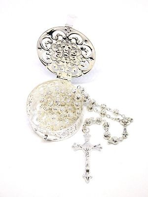 First Holy Communion Filigree Rosary With Matching Box - Holy Communion Gift • 11.95£