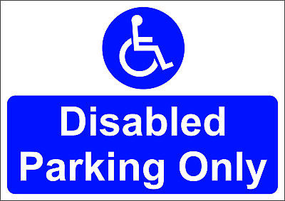 £6 • Buy Disabled Parking Only - Mandatory Sign  A5/a4/a3 Sticker Or Foamex Sign