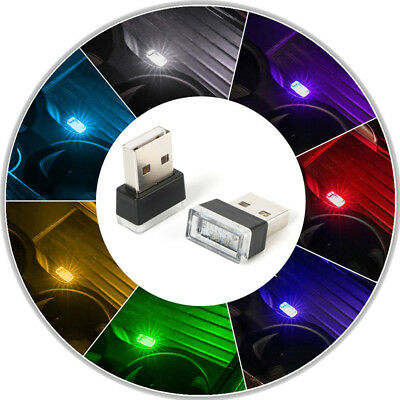 $0.99 • Buy 1x Flexible Mini USB LED Light Colorful Lamp For Car Atmosphere Lamp Accessories