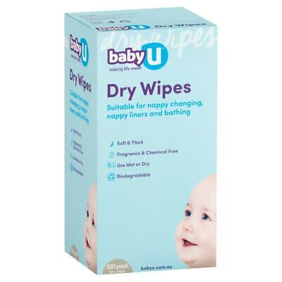AU5.50 • Buy BabyU  Dry Wipes X 100