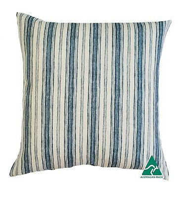 AU54.99 • Buy *NEW* Stunning Blue/Grey Hamptons Style Striped Cushion Cover