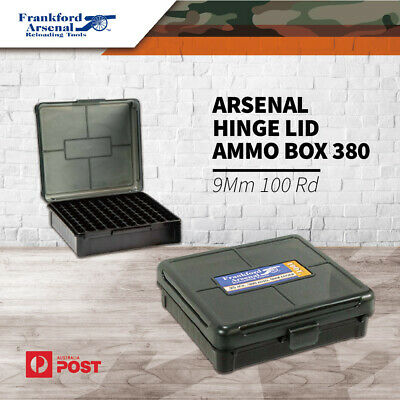 AU19.45 • Buy Frankford Arsenal Hinge Lid 100Rd Ammo Box Ammunition Case 380 - 9Mm