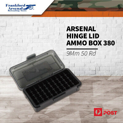AU14.70 • Buy Frankford Arsenal Hinge Lid 50Rd Ammo Box Ammunition Case 380 - 9Mm