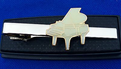 AU22.36 • Buy Piano Tie Clip Baby Grand Piano Band Yamaha Organ Tie Clasp Pin Necktie