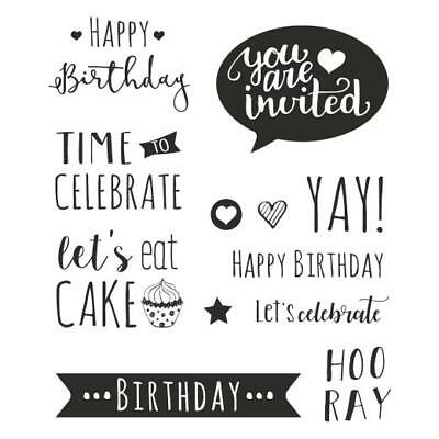 Knorr Prandell Clear Stamps - Happy Birthday • 7.29£