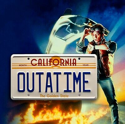 Back To The Future Inspired OUTATIME Usa METAL SIGN RETRO GARAGE BAR Man CAVE • 3.99£