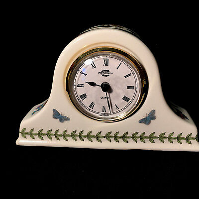 PORTMEIRION Botanic Garden - Small Mantle Clock - Rare - Butterflies, Flowers  • 16.91£