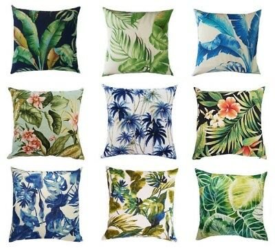 AU39.99 • Buy Tropical Outdoor Palm Leaves Cushion Covers *All Sizes* (Australian Made)