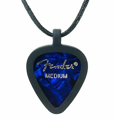 $ CDN15.67 • Buy Guitar Pick Necklace By Pickbandz PICK HOLDER In Black W/ Blue Moto Fender Pick