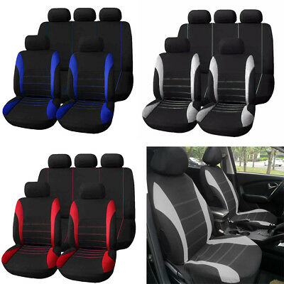 $ CDN31.59 • Buy 1 Set Seat Cover 9 Set Full Car Styling Seat Cover For Interior Auto Accessory
