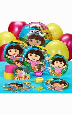 Dora The Explorer 16 Person Birthday Party Pack Decorations Balloons Plates Girl • 42.50£