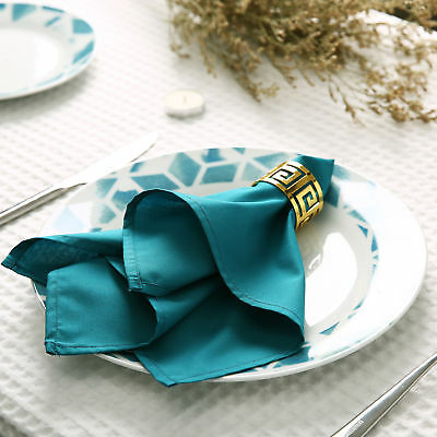 Napkins Table Linen Dinner Cloth Poly Cotton Hotel Wedding 6 & 12 Pack 38 X 38cm • 12£