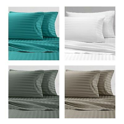 AU39.95 • Buy Bed Sheet Sets Pillow Cases Mega Queen King Single Double Flat Fitted Sheets
