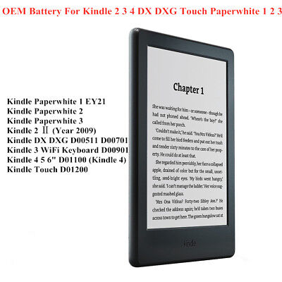 $17.50 • Buy OEM Battery For Amazon Kindle 2 3 4 5 Touch DX DXG Paperwhite 1 2 3 E-book