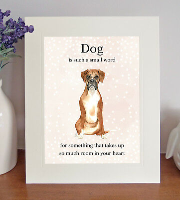 Boxer  Dog Is Such A Small Word...  8x10 Picture/Print, Lovely Sentimental Gift • 7.50£