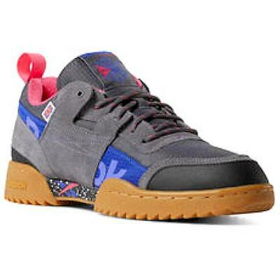 d3d2783d09b Reebok Workout Plus Ripple Altered DV7147 Gray Blue Pink Mens Womens Shoes  Sizes • 56.95