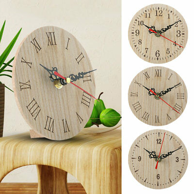 AU9.81 • Buy Small Wooden Wall Clock Vintage Chic Kitchen Office Living Room Decor