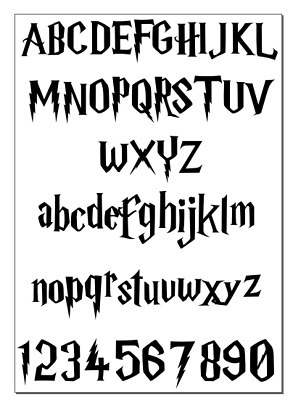£2.99 • Buy Alphabet Harry Potter Inspired Vinyl Stickers Wall Personalised  A-Z**