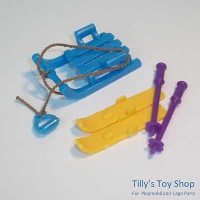 Playmobil     City Life / Sports -  Sledge , Skis & Poles-for A Child Figure-NEW • 3.75£