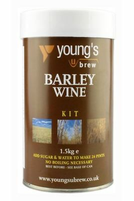 YOUNG'S 24 Pint Harvest BARLEY WINE Making Home Brew Kit • 18.99£