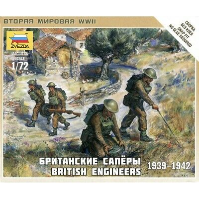 Zvezda 1/72 Scales WW2 BRITISH ENGINEERS • 5.99£