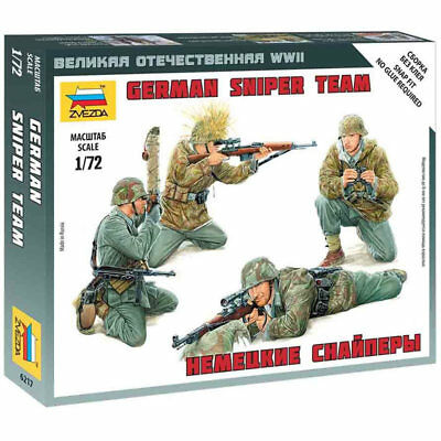 Zvezda 1/72 Scale WW2 GERMAN SNIPER TEAM • 5.99£