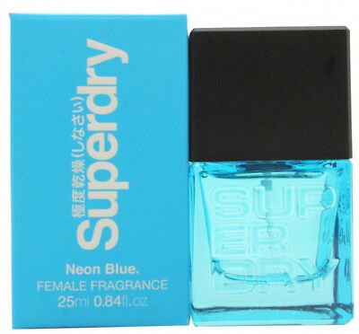 Superdry Neon Blue Eau De Cologne 25ml Spray -  For Her Women Ladies Girls New • 11.99£