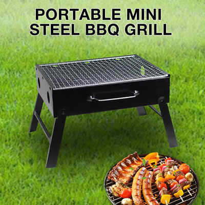 AU16.84 • Buy Portable Charcoal BBQ Grill Outdoor Camping Foldable Barbecue Hibachi Picnic AU