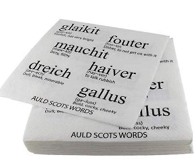Glen Appin- Auld Scottish Dialect Napkins, 3 Ply, Perfect For Burns Night! • 3.99£