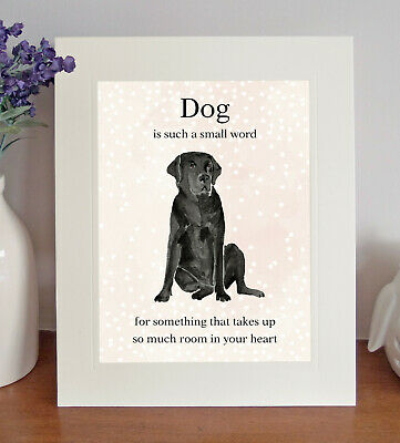 Labrador (Black)  Dog Is Such A Small Word...  8 X 10 Picture Print Fun Gift • 7.50£