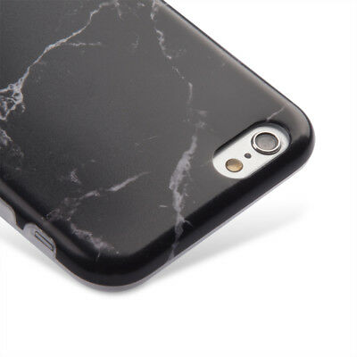 AU9.15 • Buy For IPhone 6+ / 6S+ Plus - BLACK MARBLE PATTERN Hard TPU Rubber Case Cover Skin