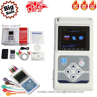 £230 • Buy CE Handheld 3 Channel ECG/EKG Holter Recorder Monitor System Software MEW Hot